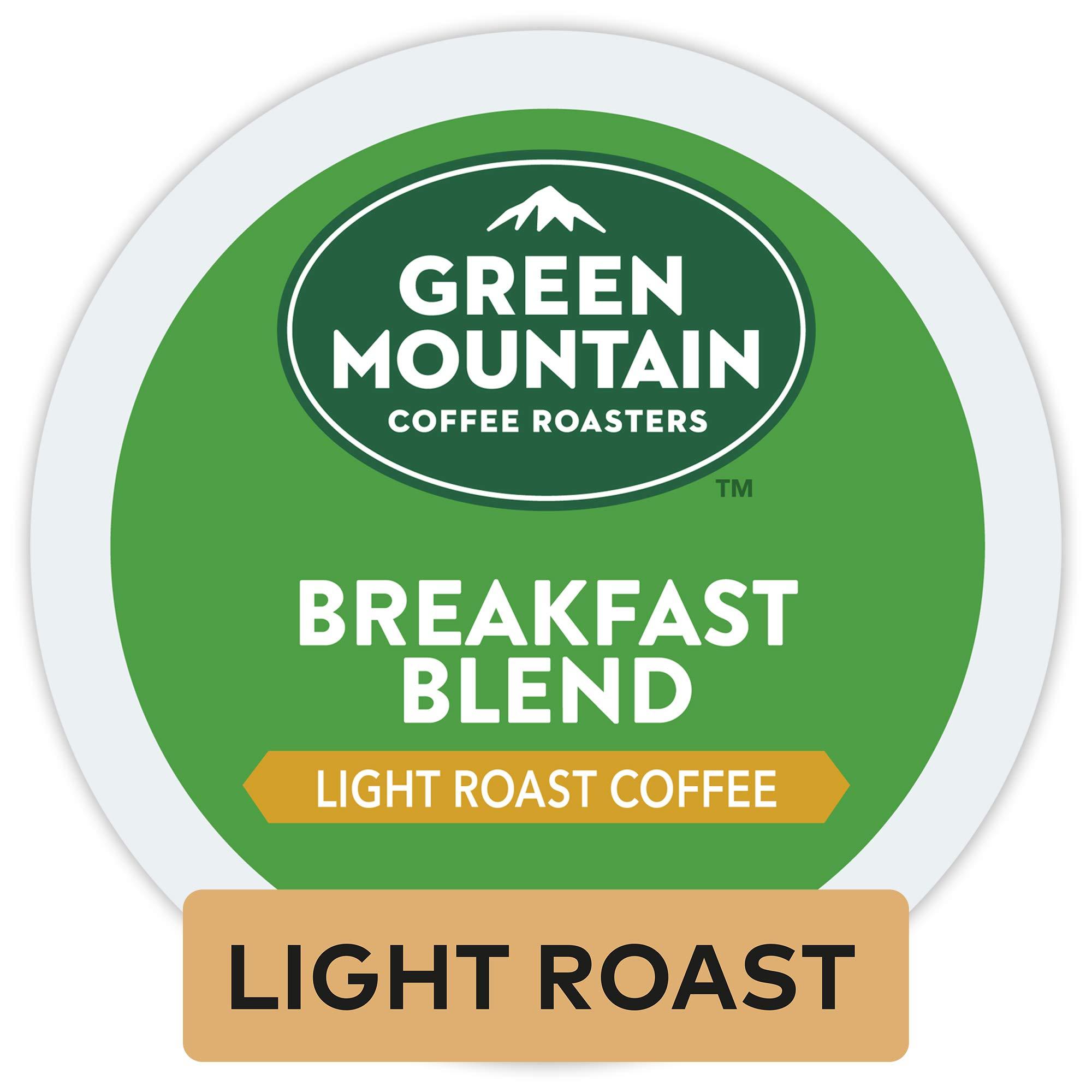Green Mountain Coffee Roasters Breakfast Blend, Single Serve Coffee K-Cup Pod, Light Roast, 12 Count, Pack of 6 by Green Mountain Coffee Roasters (Image #1)