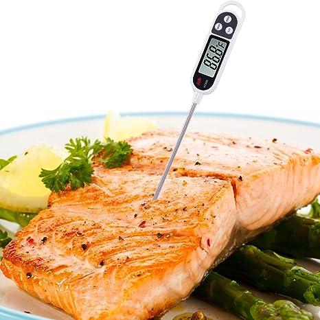 molshine needle-style Alimentos Sonda Termómetro Digital, pantalla LCD, auto-cal Jumbo