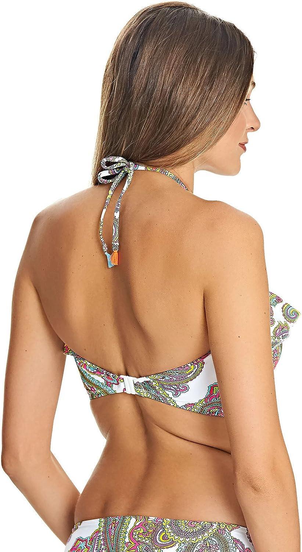 *Sizes C-G* Freya New Wave Underwire Bandeau Bikini Top in Multi AS4042