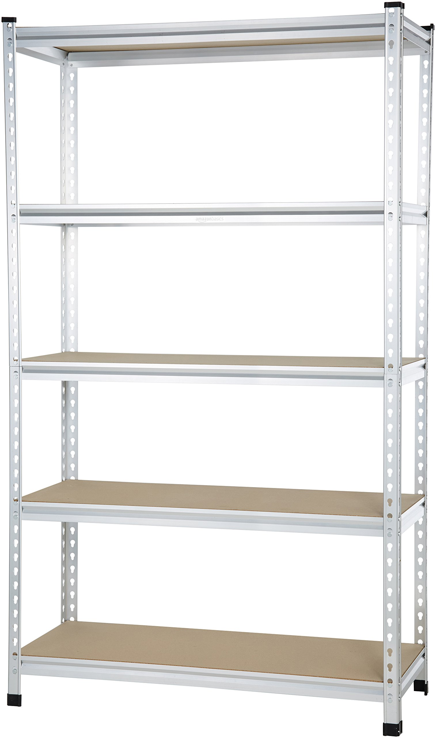 AmazonBasics Medium Duty Shelving Double-Post Press Board Shelf - 48 x 18 x 72