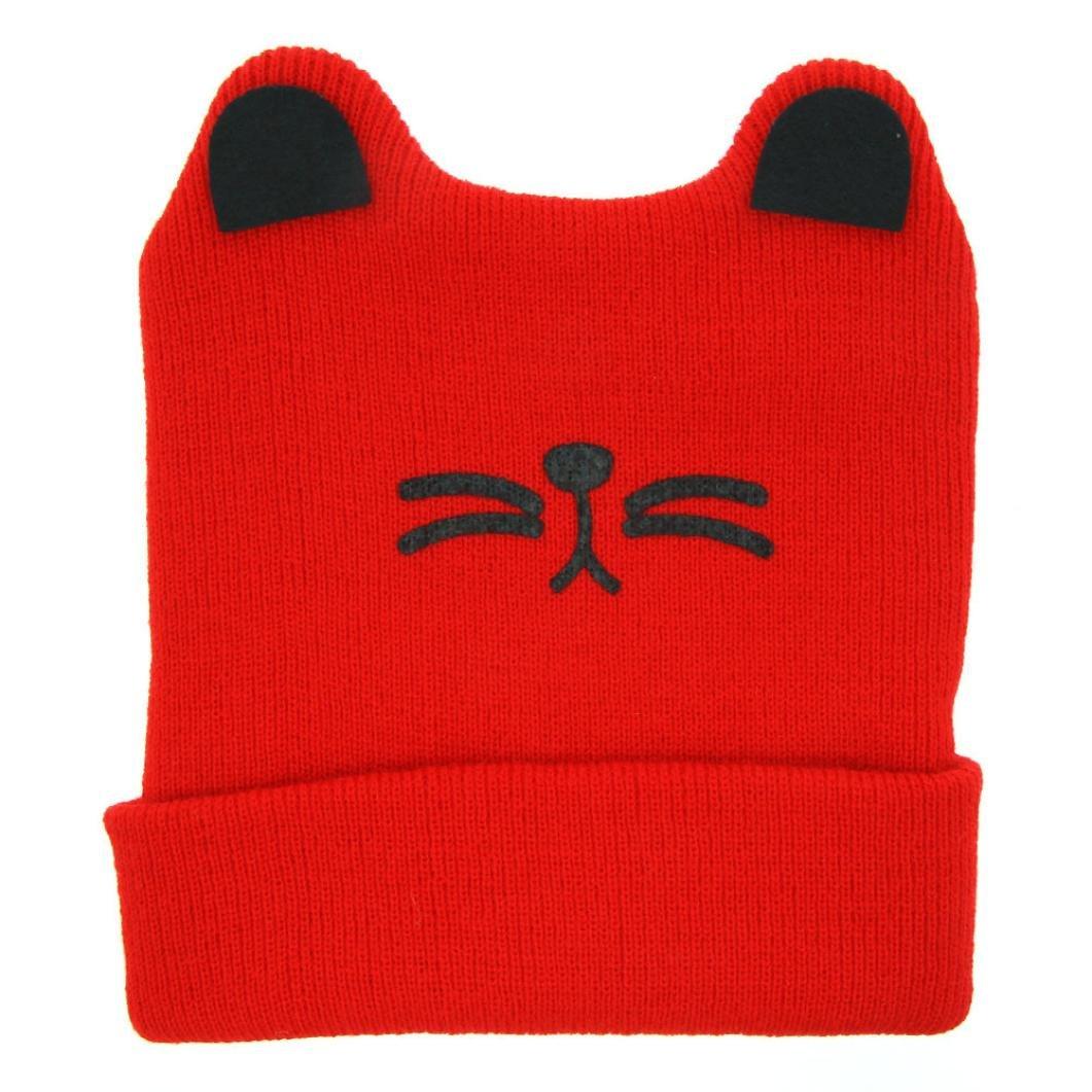 Allywit Cute Baby Boys Girls Cat Ear Knit Keep Warm Hat
