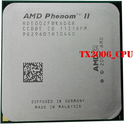 Amazon Com Amd Phenom Ii X6 1100t Black Edition 3 3ghz Hde00zfbk6dgr Cpu Processor Socket Am3 938 Pin Computers Accessories
