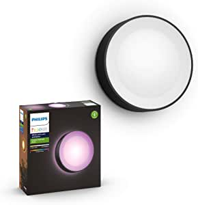 Philips Hue Daylo White & Colour Ambiance LED Smart Outdoor Wall Light, Black, Compatible with Alexa, Google Assistant and Apple HomeKit