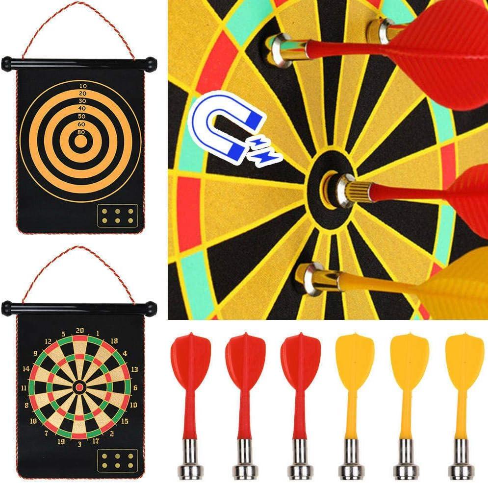 Juego de Dardos magn/éticos CT Juego de Dardos magn/éticos con 6 Flechas magn/éticas 50x41 cm 2 Lados