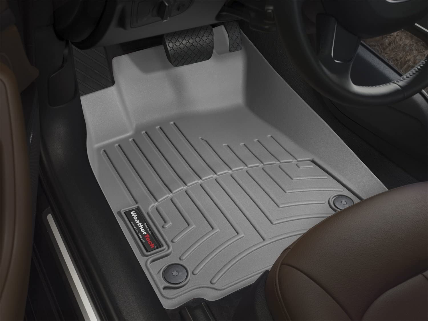 Amazon Com Weathertech Custom Fit Front Floorliner For Toyota Tacoma Grey Automotive