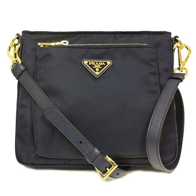 733e0a287be4 ... czech amazon prada bt0693 bleu navy tessuto saffian nylon and leather crossbody  messenger bag messenger bags
