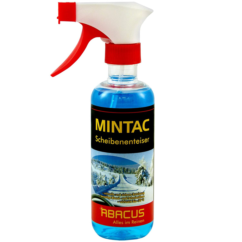 ABACUS MINTAC 300 ml Konzentrat -70° C (4095) - Scheibenfrostschutz Scheibenenteiser Scheiben Spiegel Enteiser Antifrost Scheibenreiniger Scheinwerferreiniger Eisfrei Glasreiniger Scheibenreiniger
