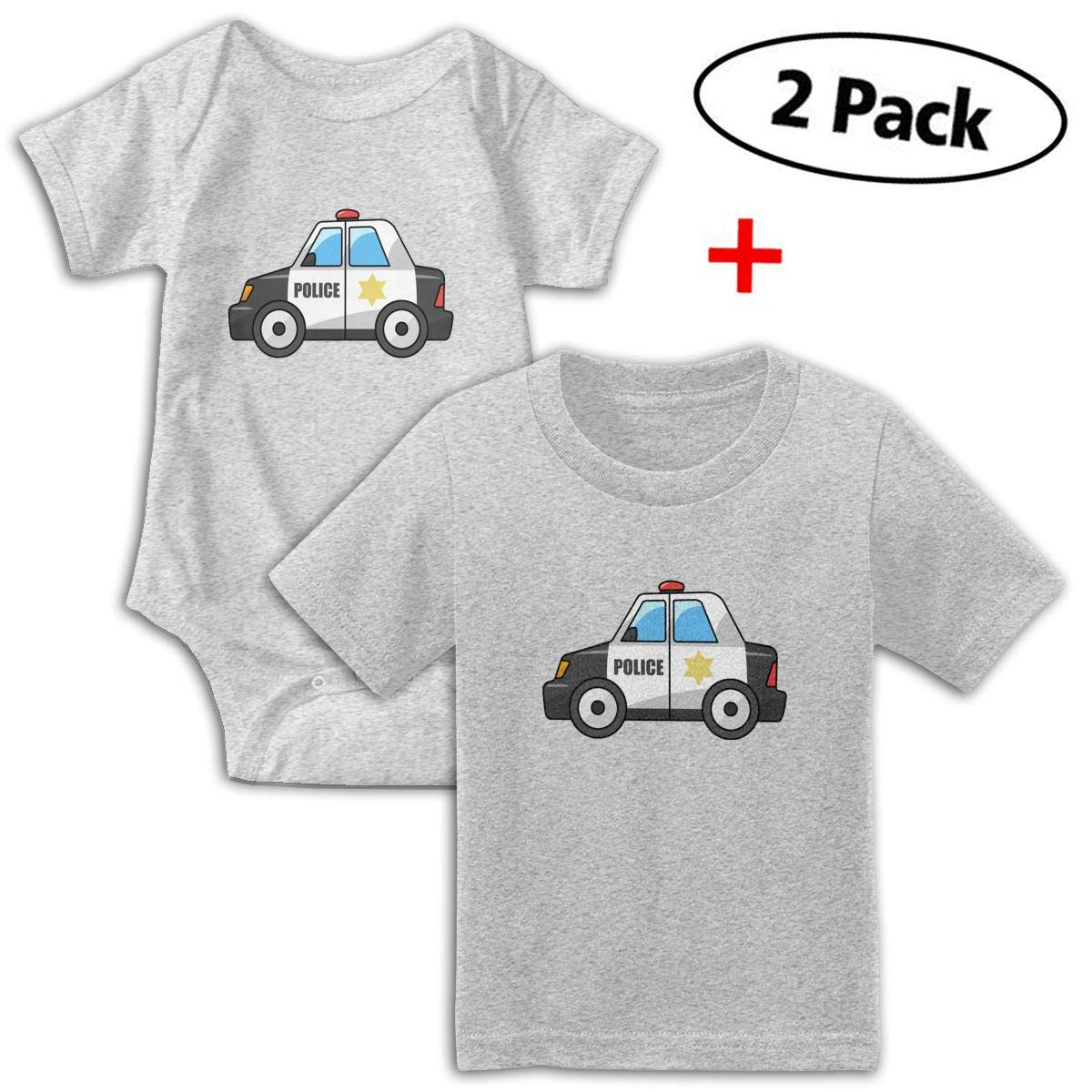 KAYERDELLE Police Car Babys Boys /& Girls Short Sleeve Romper Bodysuit Outfits and Tshirt
