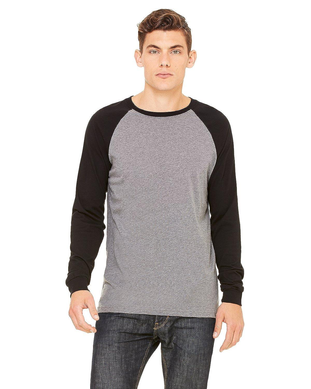 Bella Canvas Mens Long-Sleeve Baseball T-Shirt