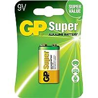 Gp Batteries Gp1604A Süper Alkalin 6Lf22/522/9V Pil, 9 Volt, Tekli Kart
