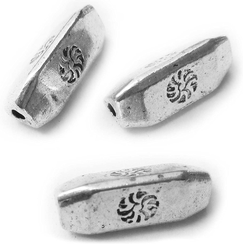 6 x Antique Silver Tone Tibetan Filigree Style Heart Hanger Jewellery Findings