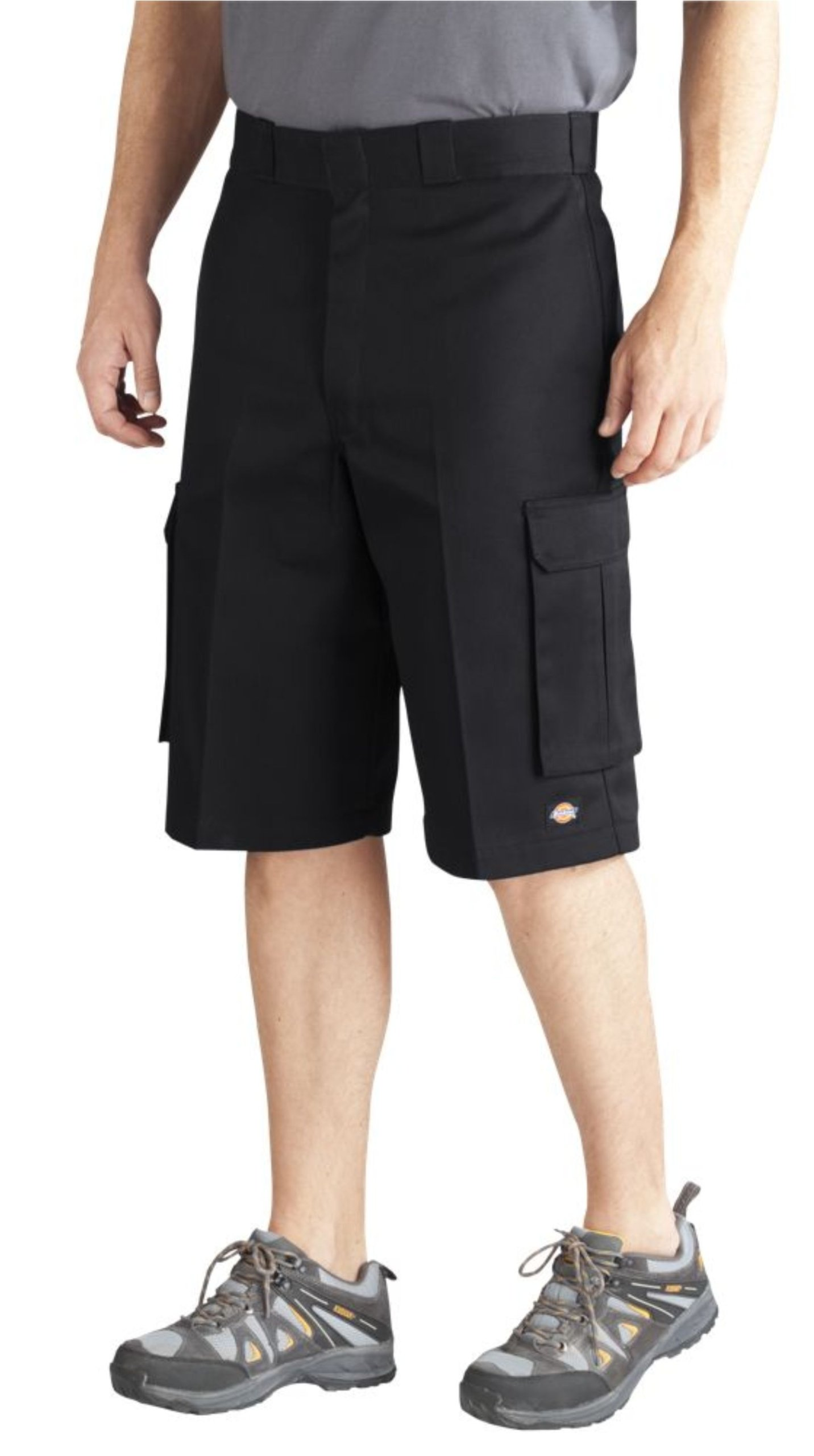 Dickies Men's 13 Inch Loose Fit Twill Cargo Short, Black, 34