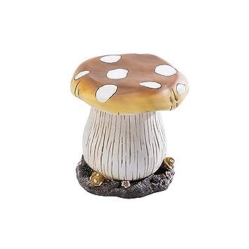 Sunjoy 110301067 Mushroom Garden Stool, Multicolored