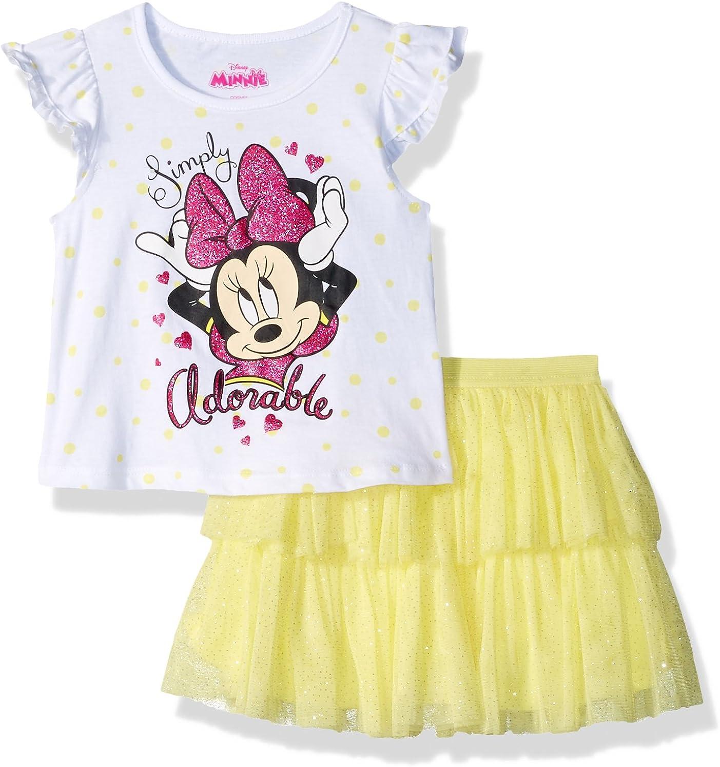 Disney Girls Minnie 2 Piece Skirt Set