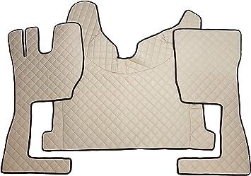 Unbekannt Fußmatten Und Motorabdeckung Für Truck Fh4 2014 Lkw Zubehör Automatikgetriebe Umweltfreundlichem Kunstleder Beige Auto