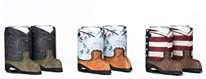 Beer Can Slim Coolie (Cowboy Boot 6-Pack)