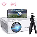 "VicTsing WiFi Projector-4200L Wireless Bluetooth Mini Projector with Tripod, 1080P 170"" Display Supported, Compatible with TV Stick, PS4, DVD, Portable Protector for Home Entertainment【2020 New Tech】"