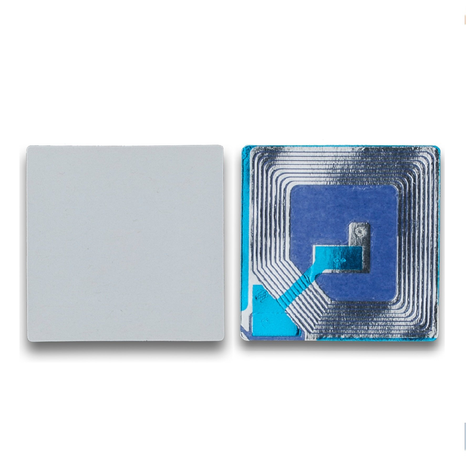 1000 Paper Security Label 1.5 X 1.5 Inch RF 8.2Mhz White Checkpoint Compatible EAS Loss Prevention