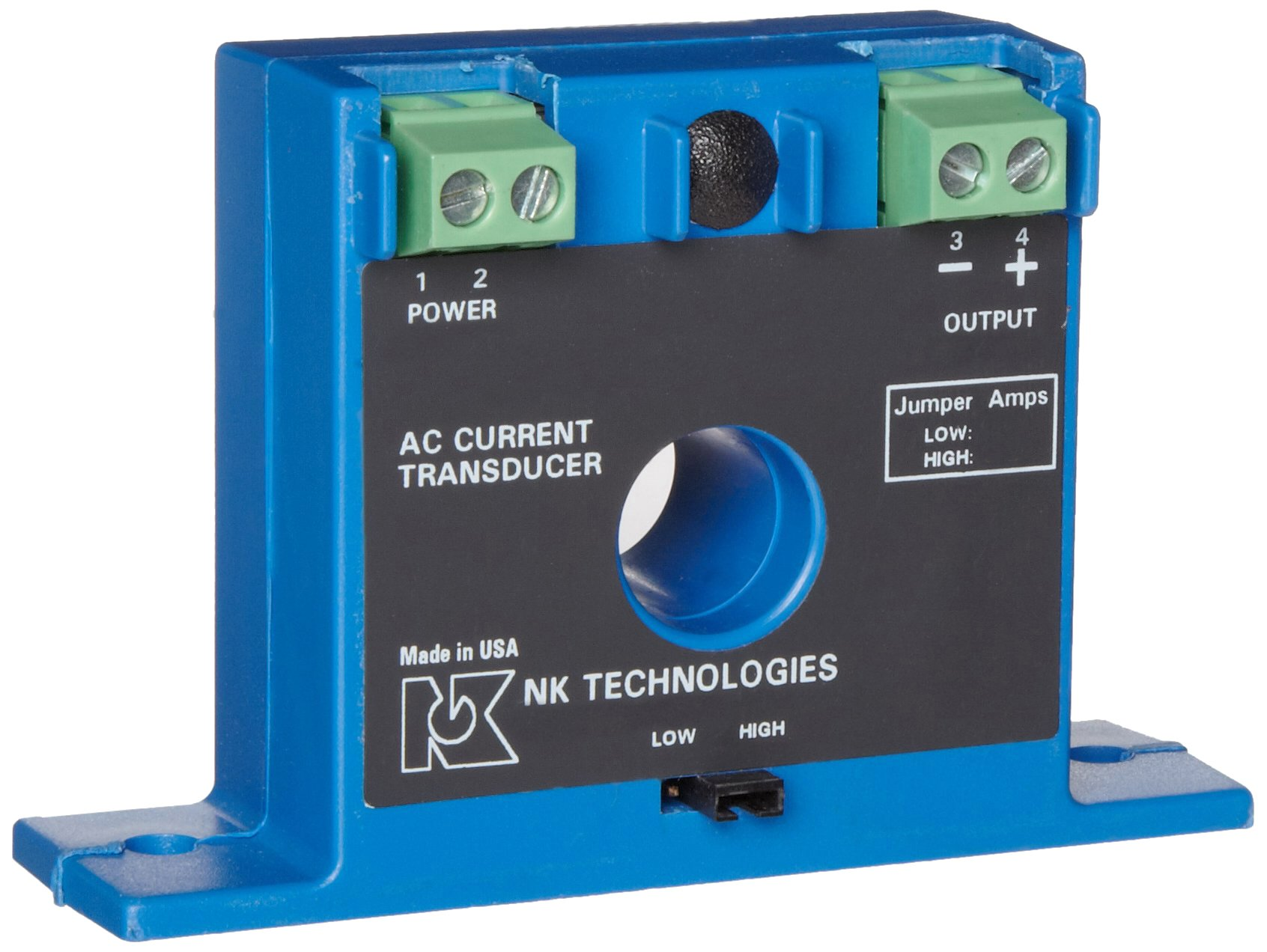 NK Technologies ATP1-420-120-FF AC Current Transducer, Solid-core, Front Term, 4-20mA Output Range, 0-10, 0-20, & 0-50A Input Range, 120VAC Power Supply