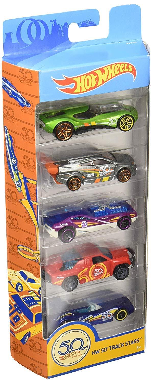 Pack de 5 coches Pack Pista Tibur/ón Megadestrucci/ón Hot Wheels