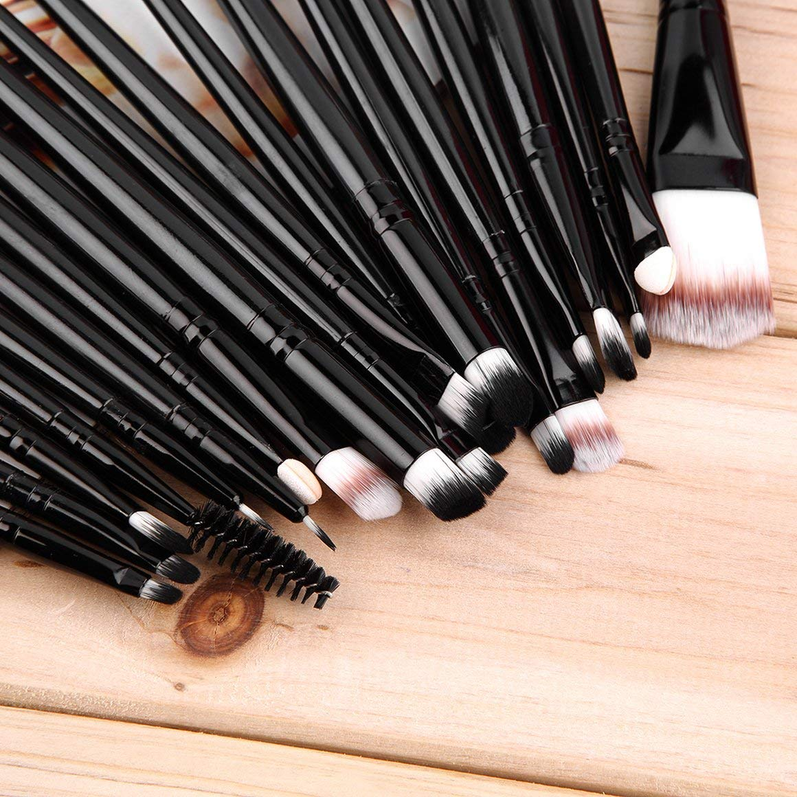 Powder Make up Brush Env/ío gratis Funnyrunstore New 20 pcs Maquillaje profesional Belleza Cosm/ética Blush Black Brushes Kits Foundation