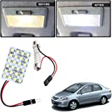 Vheelocityin 24 SMD Dome Light 24 LED Car Roof Light with spring adjustable bracket For Honda City ZX