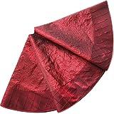 """SORRENTO EXTRA LARGE 50"""" Sequin Sparkle Blingbling skirt with deluxe diamond pintuck border Christmas tree skirt Burgundy"""