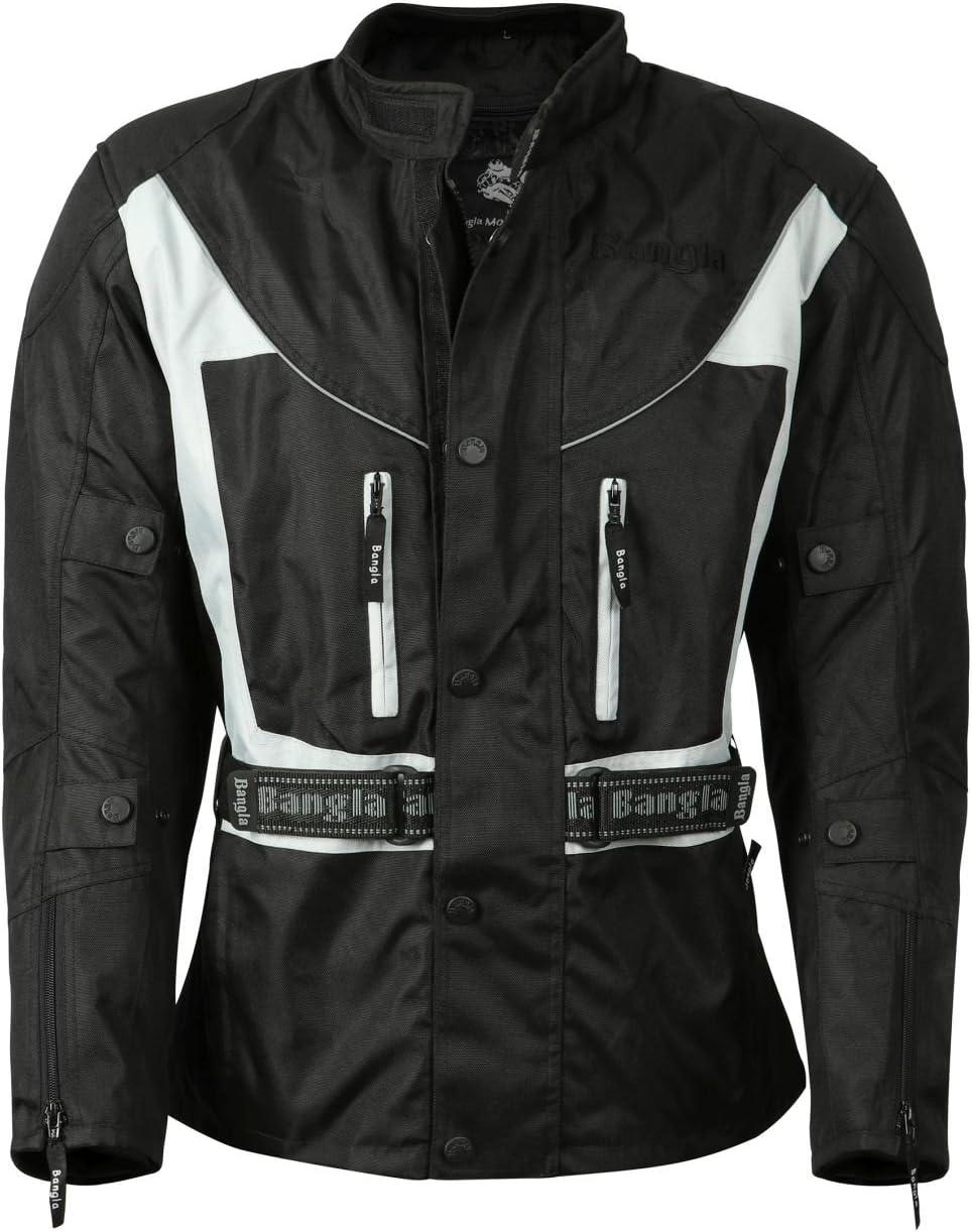 Ledershop-online Bangla 017a Motorradjacke Touren Jacke Textil wasserdicht schwarz grau S 7 XL