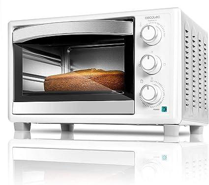 Cecotec Horno Sobremesa Bake&Toast 590. 1500 W, Capacidad de 23 litros, Temperatura hasta 230ºC, Temporizador hasta 60 Minutos, 3 Modos de cocción, ...