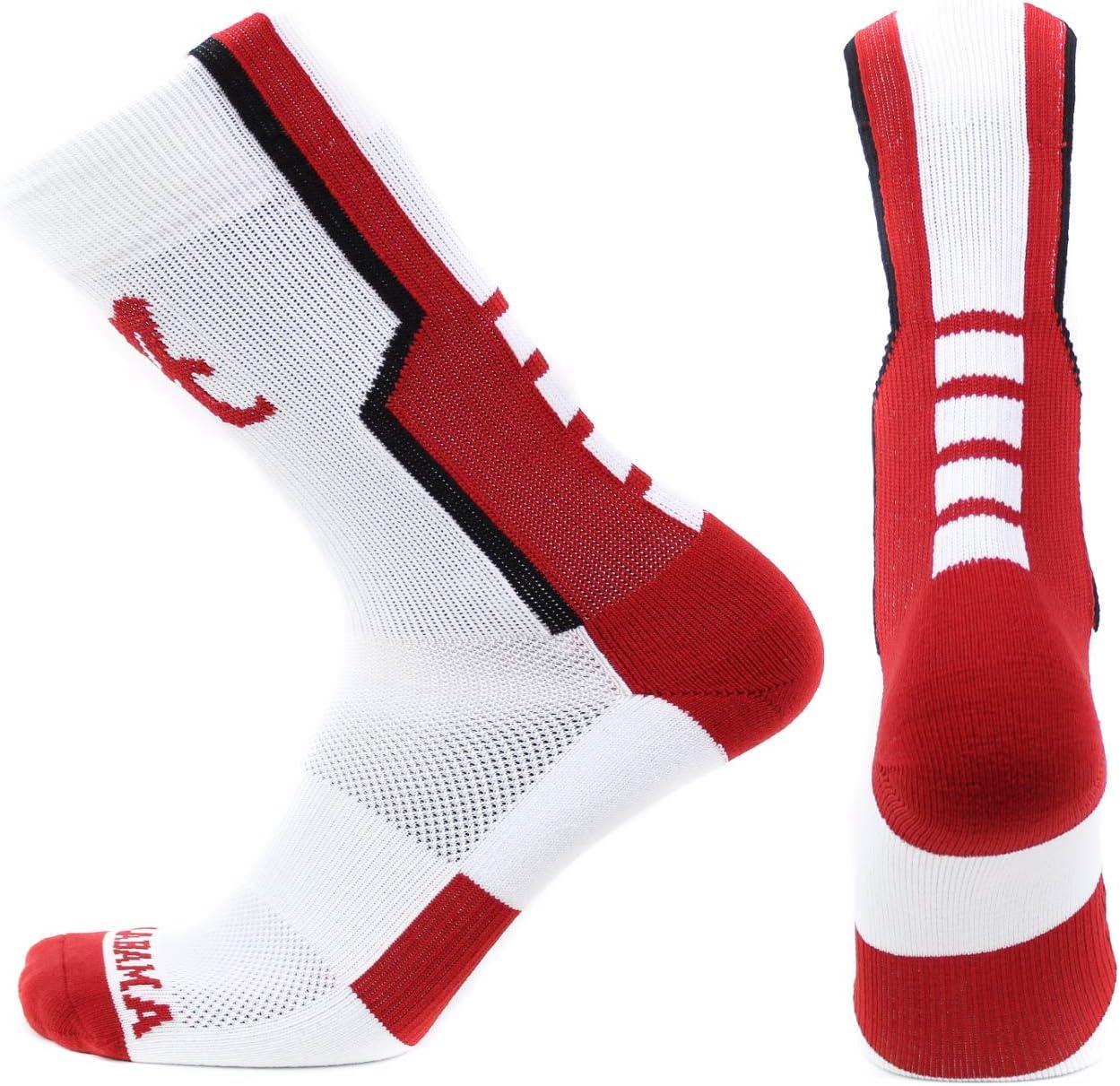 One Size Black Donegal Bay NCAA Alabama Crimson Tide Unisex Alabama Red Sport Sockalabama Red Sport Sock