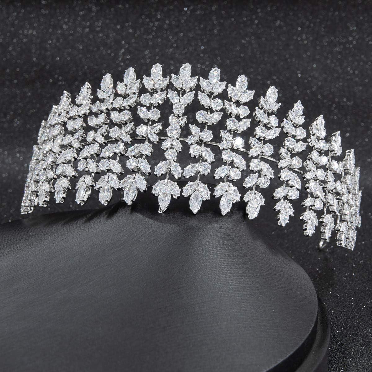 Big Crystals Cubic Zirconia Wedding Bridal Soft Headband Hairband Tiara Hair Accessories A01921