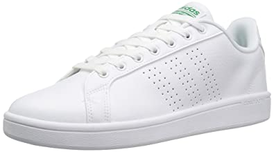 Adidas Neo Men's Cloudfoam Advantage Clean Sneakers, White/White/Fairway,  (6.5