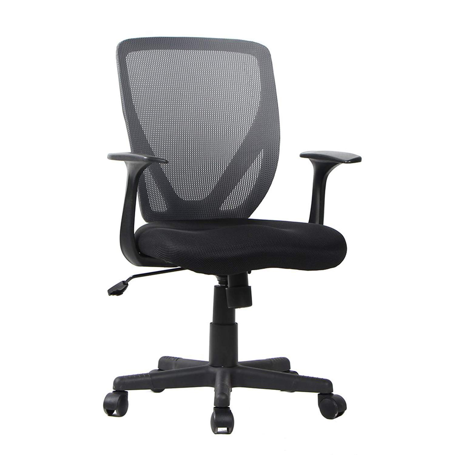 Smugdesk Ergonomic Mid Back Breathable Mesh Office Computer Desk Chair with Lumbar Support Black