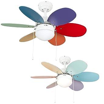 MiniSun - Divertido ventilador de techo, faro con luz Candy - para frío