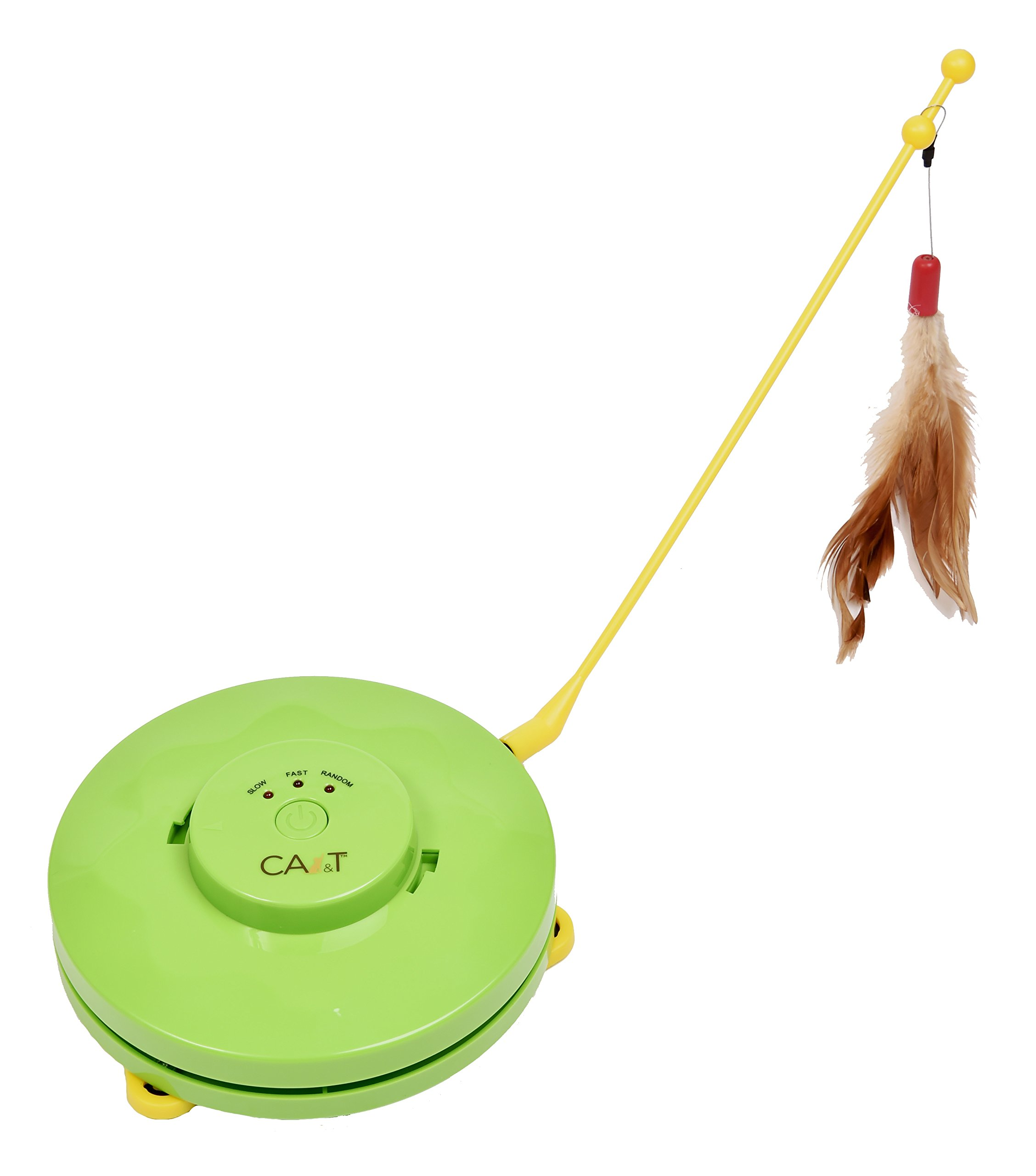 CA&T Flying Feather and Hiding Mouse Cat Game - Best Interactive Toy for your Cat!