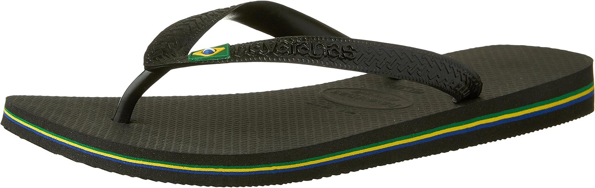 Havaianas Brazil Logo Top Mix Flip Flops Brasil Mens Womens Beach Summer Shoes