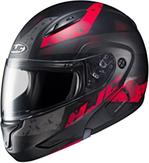 HJC CL-MAX II Friction Black/Red Modular Helmet, XL