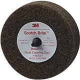 Scotch-Brite Rivet Cleaning Disc 07410, 4 in x 1-1/4 in A MED, 10 per case