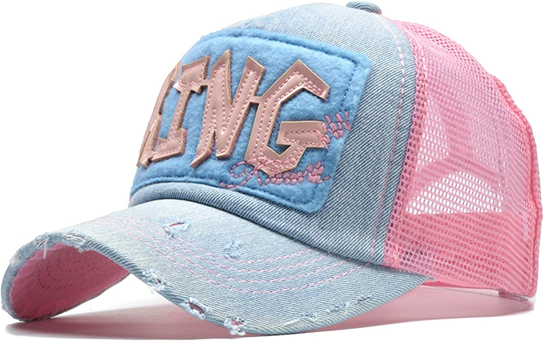 2019 Fashion Summer Cap Women Baseball Cap Mesh Snapback Dad Hat King Casquette Girls Summer Hat