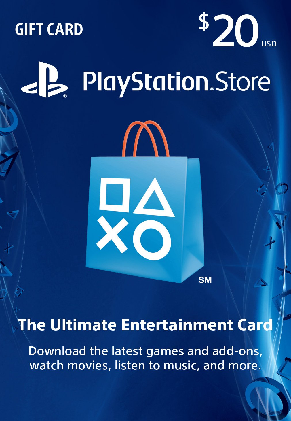 Sony PSN - $20 Playstation Network Card
