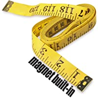 Ehdis 120 Inch 3 Meter Soft Tape Measure with Magnetic Tip, Flexible Magnetic Measure Tape for Auto Vinyl Wrap Measuring…