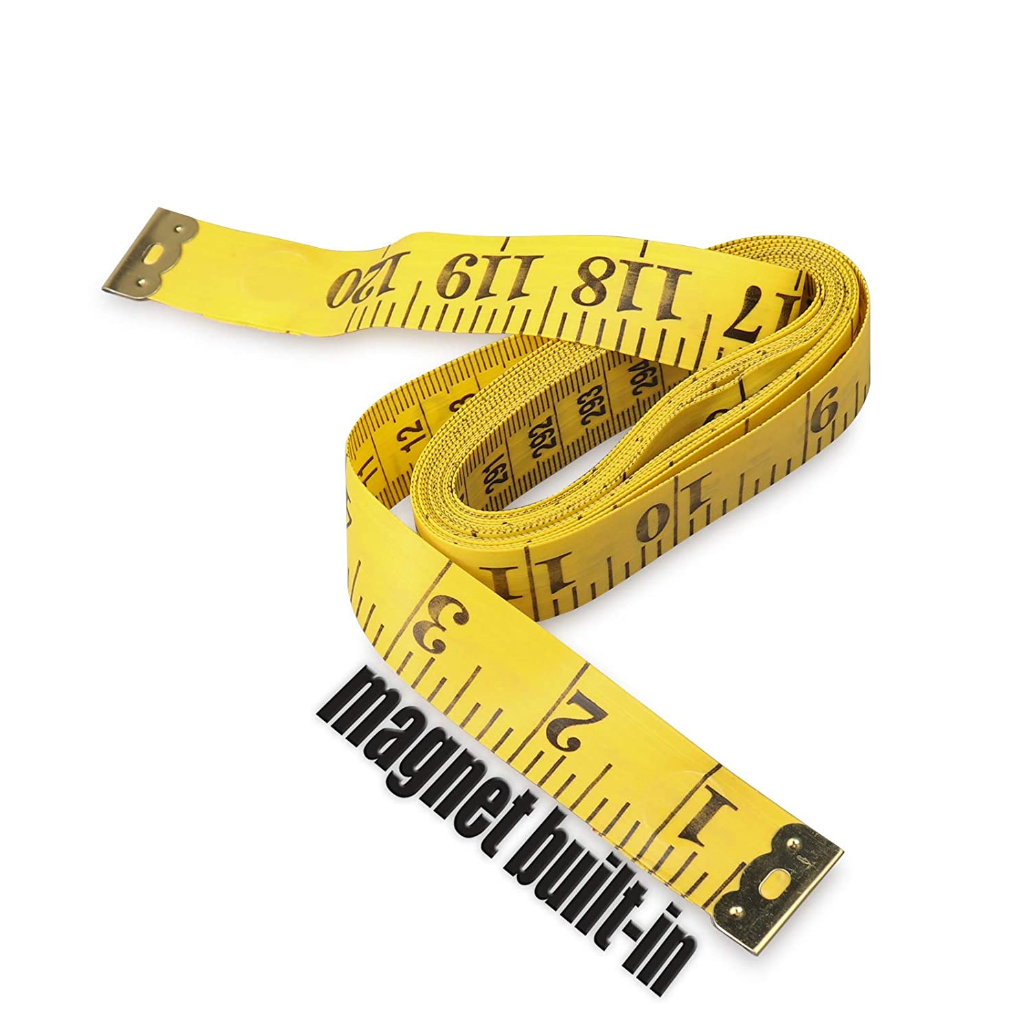 Ehdis 120 Inch 3 Meter Soft Tape Measure with Magnetic Tip, Flexible  Magnetic Measure Tape for Auto Vinyl Wrap Measuring Tailor Sewing