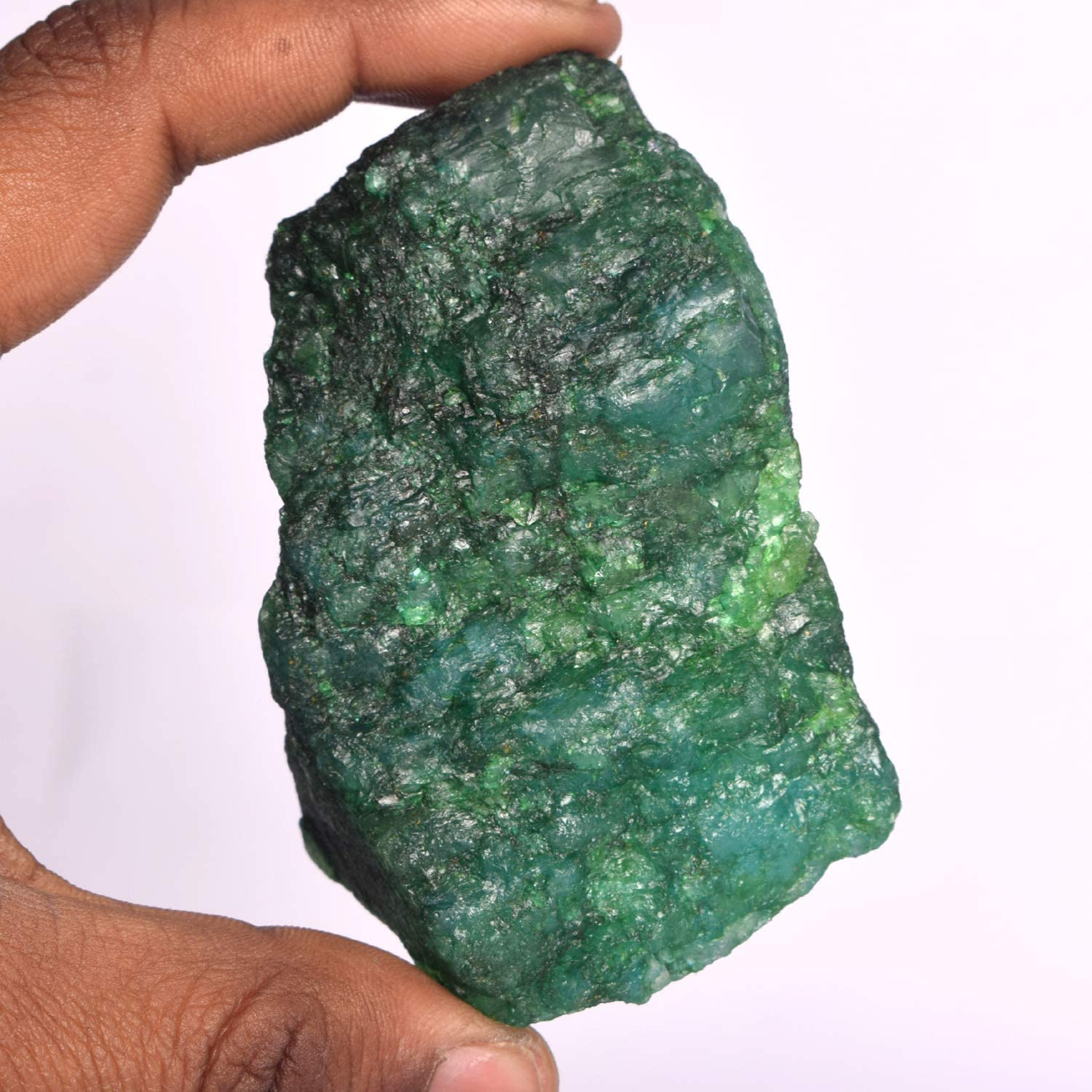 Certified Healing Energy Crystal Mineral Rock Rough Emerald Stone Gemhub Natural Green Emerald 974.00 Ct