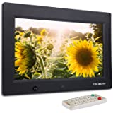 TEC.BEAN 10.1-Zoll 8G HD Digitaler Bilderrahmen mit Eingebautem Speicherung- und Bewegungssensoren, MP3- und Video-Wiedergabe (Schwarz)