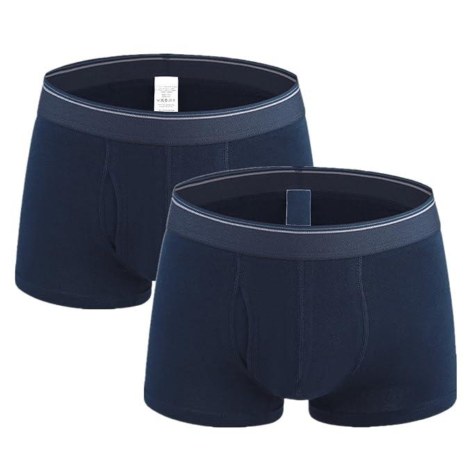 AiJump Pack de 2 Calzoncillos Trunks Bóxer Briefs para Hombre Ropa Interior Boxer Shorts Transpirable de Hombre Forma U Men Underwear: Amazon.es: Ropa y ...