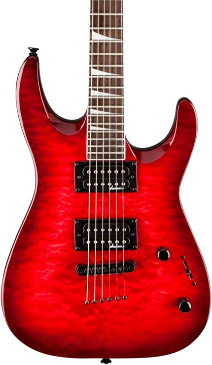 Jackson JS32TQ Dinky Arch top Quilted Maple Trans Red Guitarra Electrica