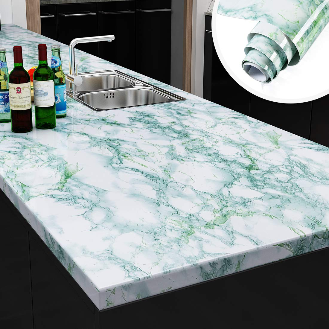 - Buy Emerald Green Marble Countertops Peel And Stick Wallpaper For