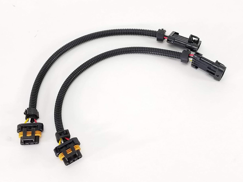Michigan Motorsports GREY 02 Oxygen Sensor Extension Square 4 Pin LS1 LS2 O2 Wire Harness Gray 24