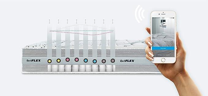 FLEX Colchón Inteligente y personalizado iBed FLEX, 150 x 200 cm: Amazon.es: Hogar