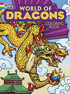 World Of Dragons Coloring Book Dover Books